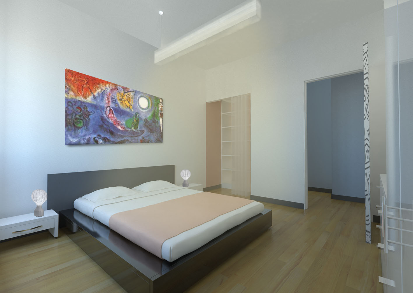 Cool lavori in cartongesso camera da letto ai93 pineglen for Specchio lungo