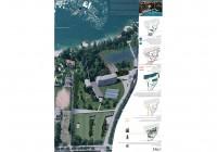 Vista aerea della proposta progettuale