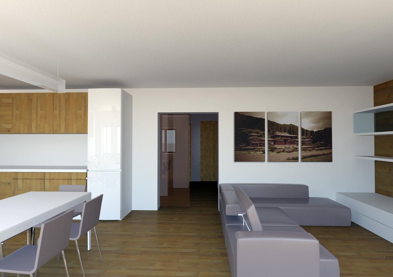 Riorganizzazione degli spazi interni appartamento for Metraggio di appartamento studio